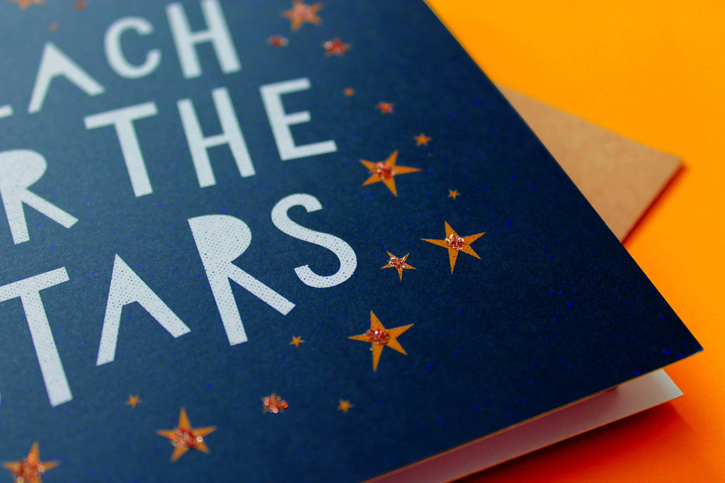 Reach For The Stars Card - Congratulations Card - Well Done Card - Aspirational Card - New Chapter Card - New Job Card