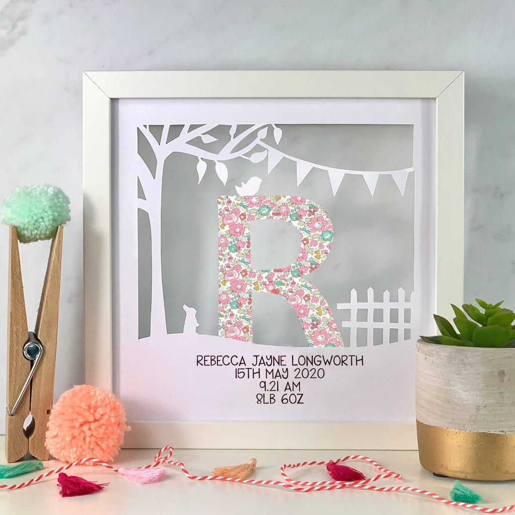 Liberty Print Children's Initial Personalised Cut Out