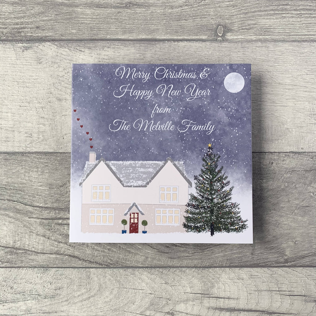 Personalised Christmas Card from individual, couple or family