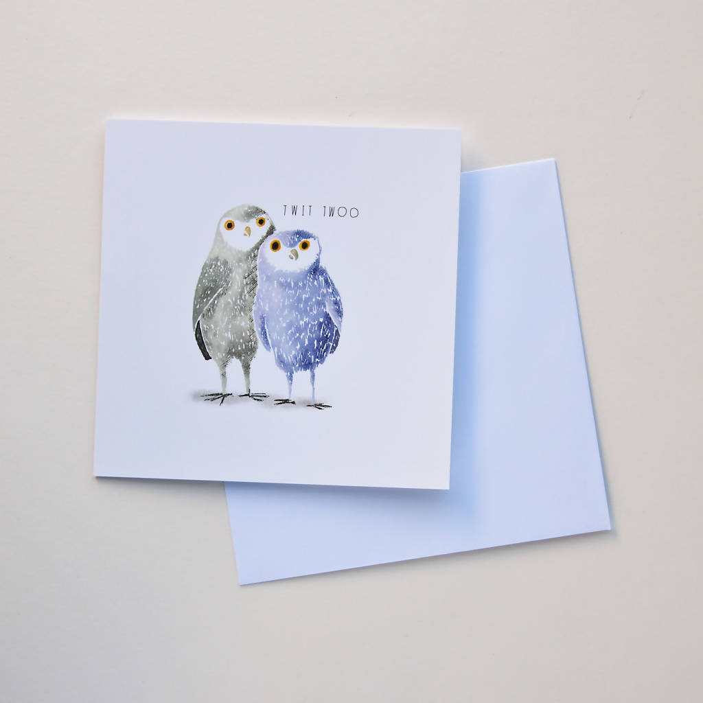 Twit Twoo Greetings Card