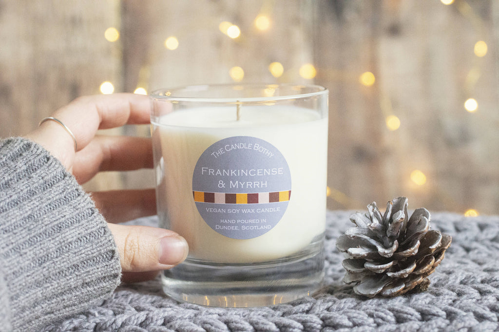 Frankincense & Myrrh soy wax candle