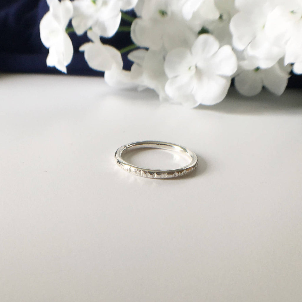 Eco Sterling Silver Stacking Ring