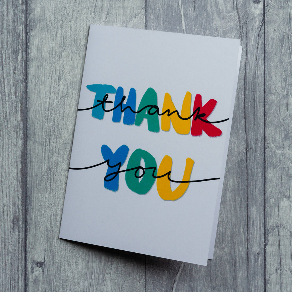 Double Thank You card