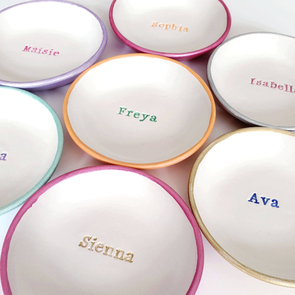 Small personalised name dish