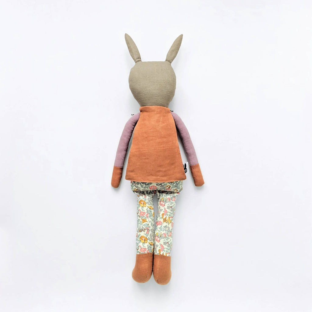 Superhero stuffed bunny doll