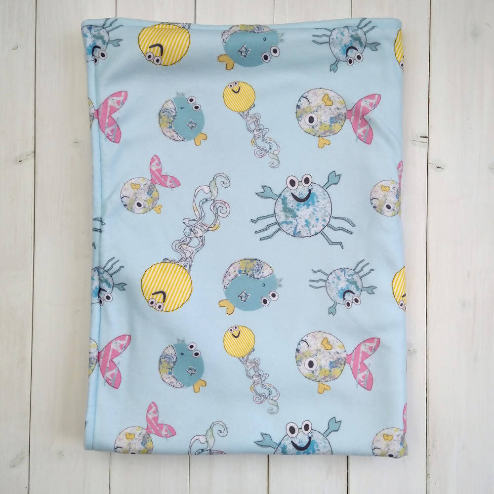Sea Creatures Fleece Blanket