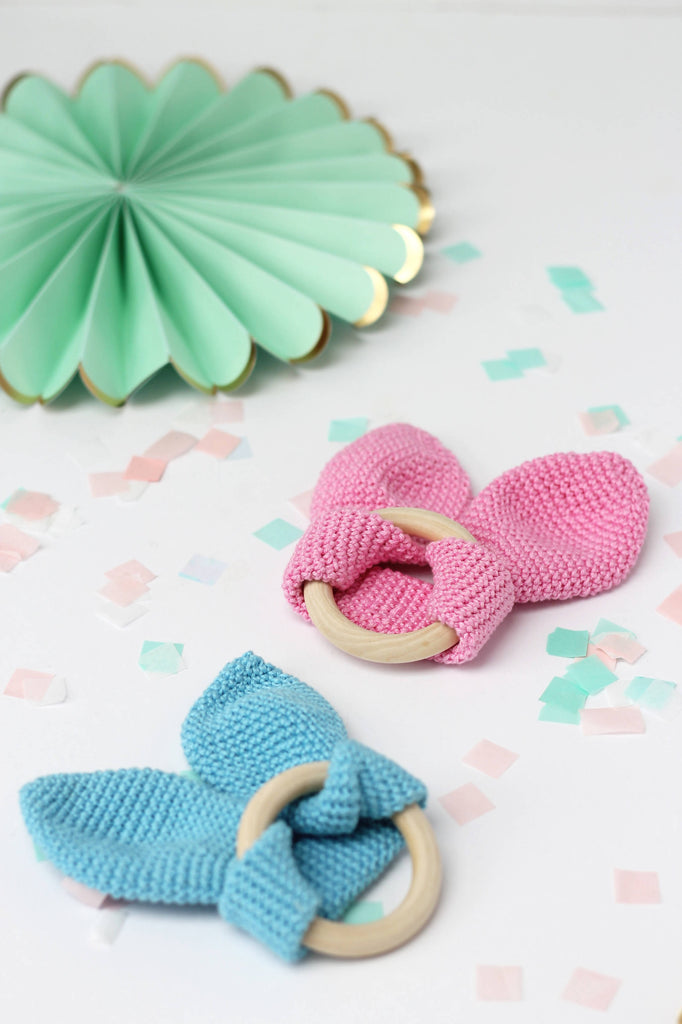 Bunny teething rings ~ Pink