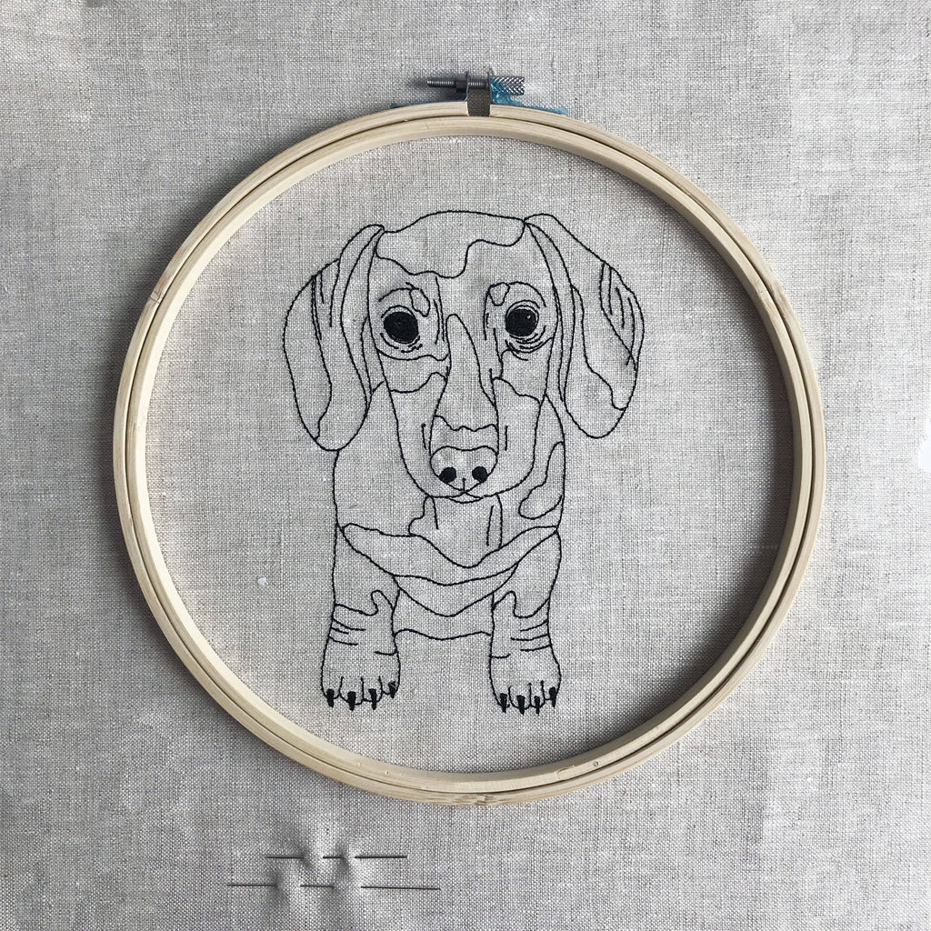 Dachshund Embroidery Craft Kit