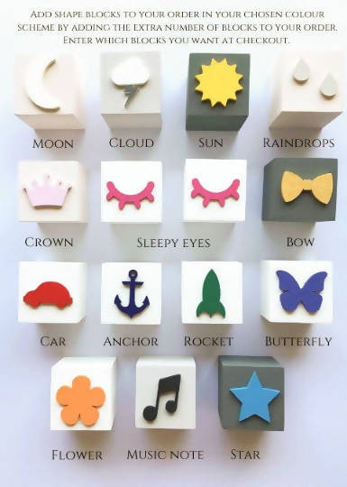 Nursery Name Block Cubes
