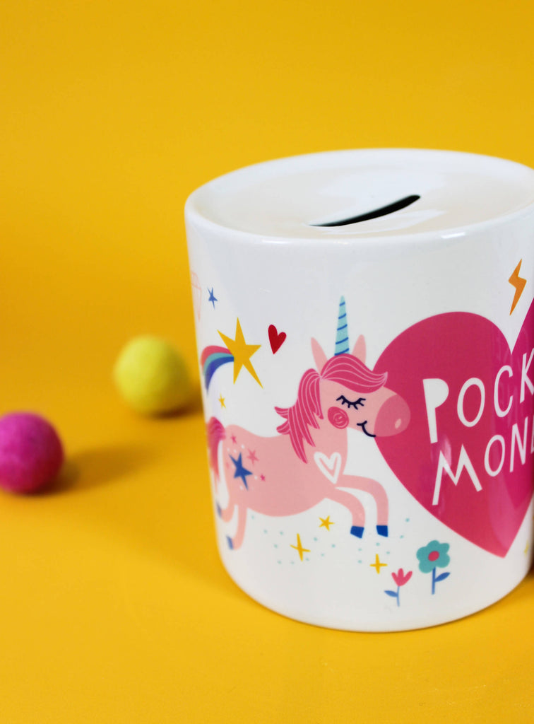 Ceramic Unicorn Pocket Money Box