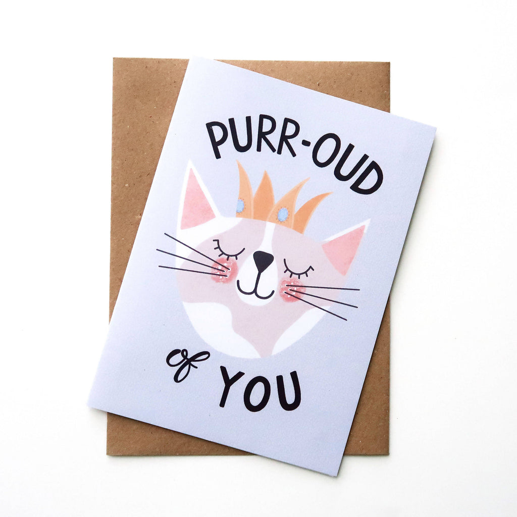 Proud of You A6 Blank Card - The Cute Cats Collection