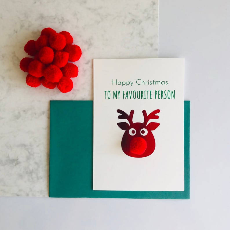 Friend Christmas Card, Favourite Human Card