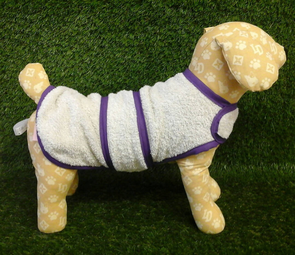 Dog towelling coat