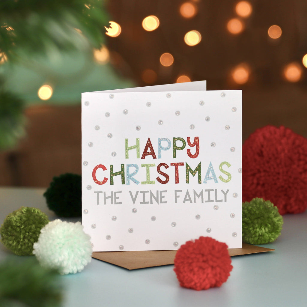 Personalised Festive Fun Christmas Card
