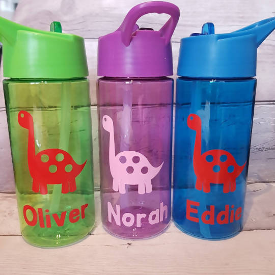 Personalised Dinosaur Kids Water Bottle