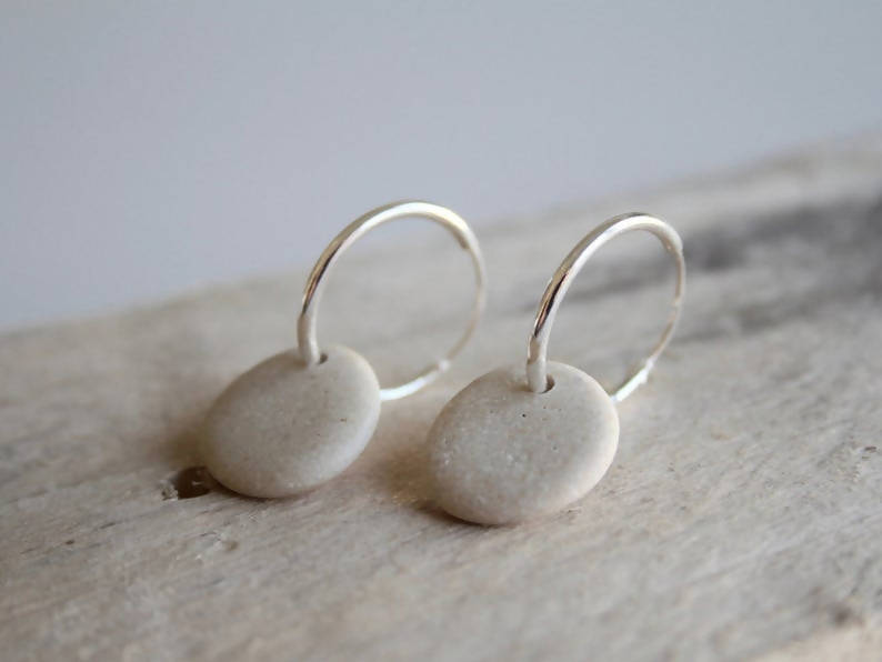 Pebble Hoop Earrings