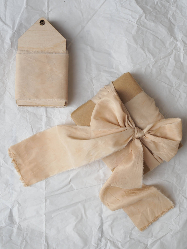 Naturally Dyed Silk Ribbon - Rose Gold