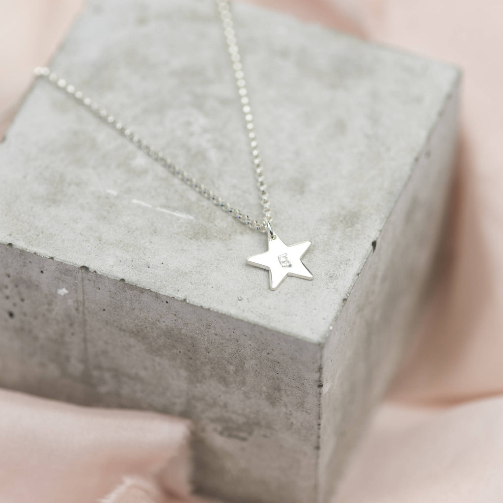 Sterling Silver Mini Star Personalised Necklace
