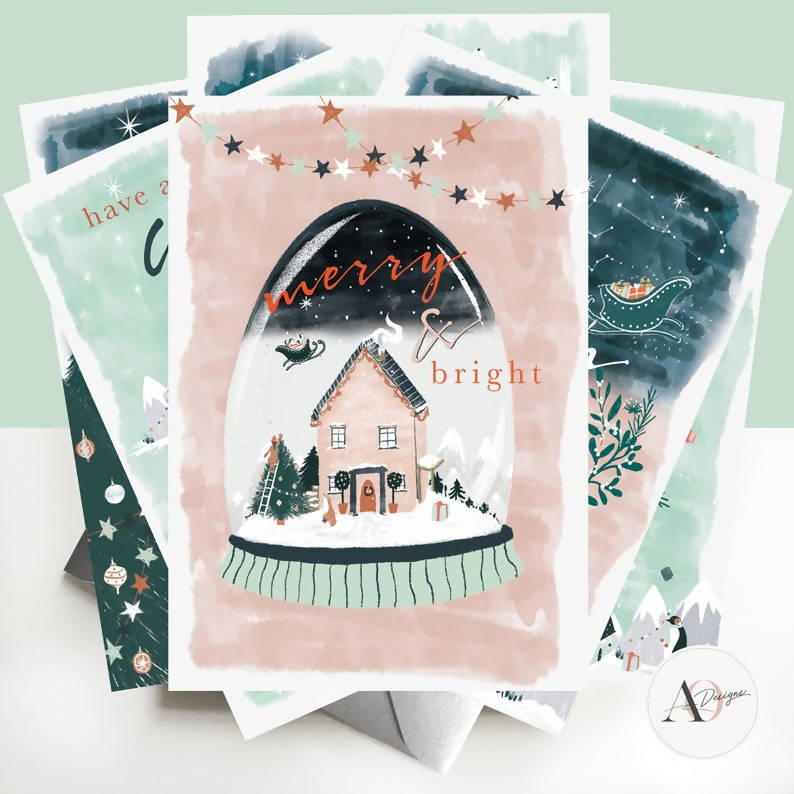Christmas Cards | Assorted Pack fo 6 | Nordic Dream
