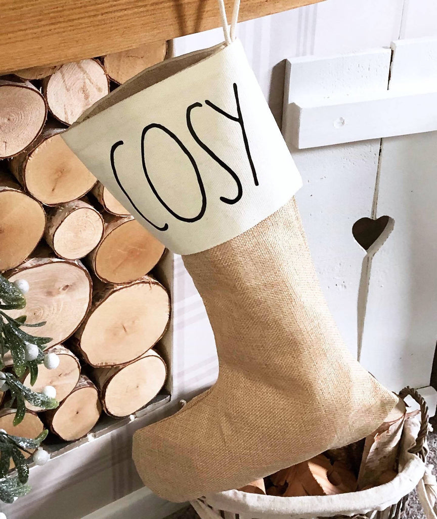 Personalised Rustic Christmas Stocking