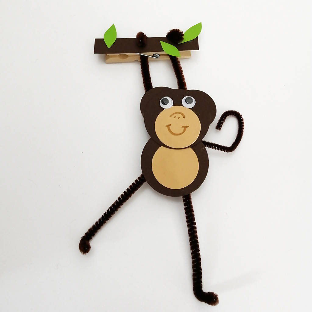 Cheeky Monkey Peg Friend Children's Craft Kit