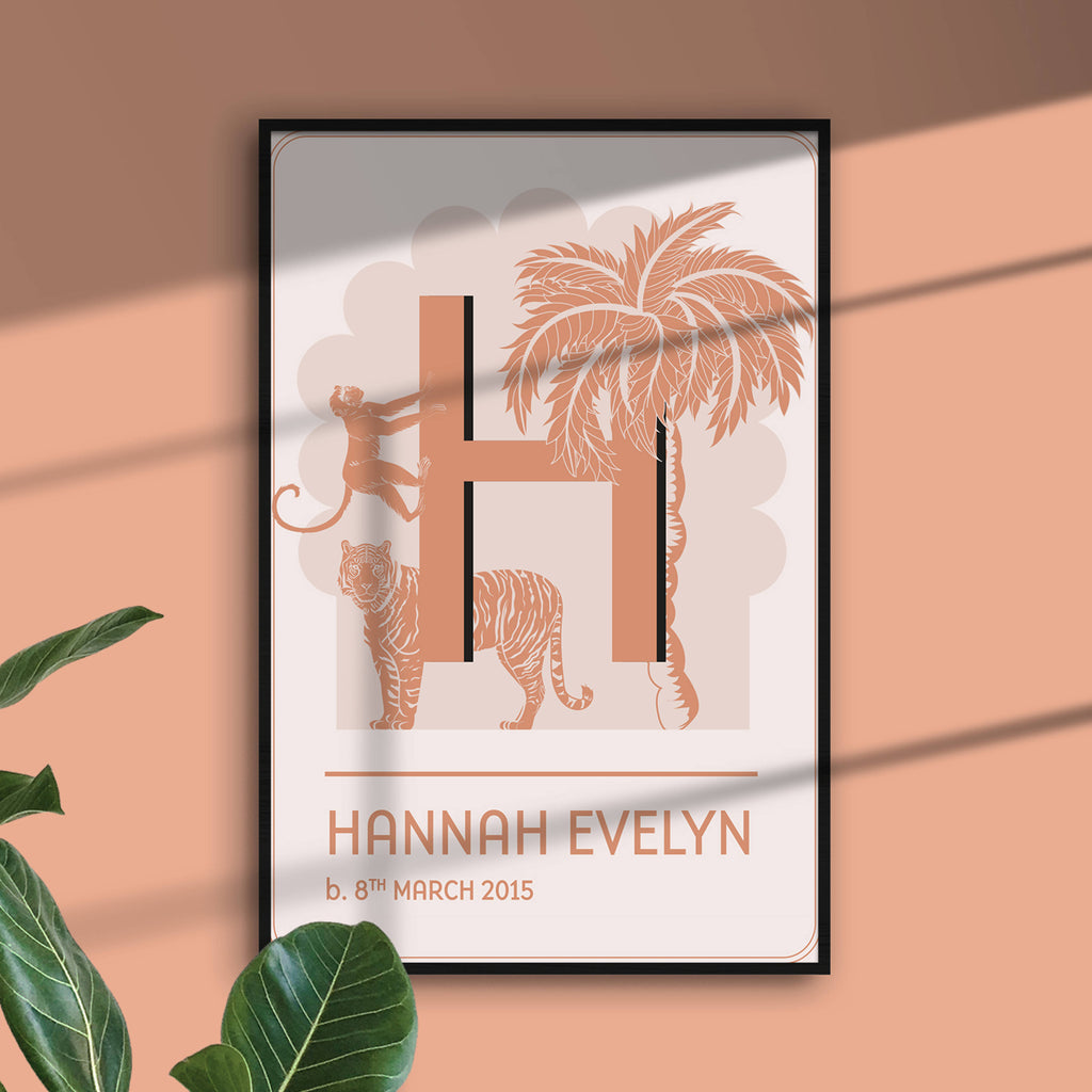Jungle Personalised Name Art Print