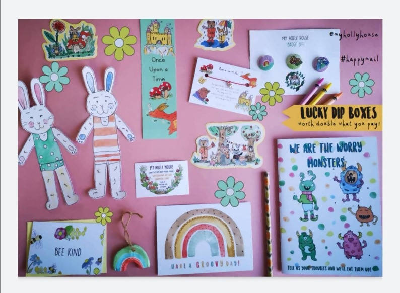 Lucky Dip Stationery Letterbox Gift