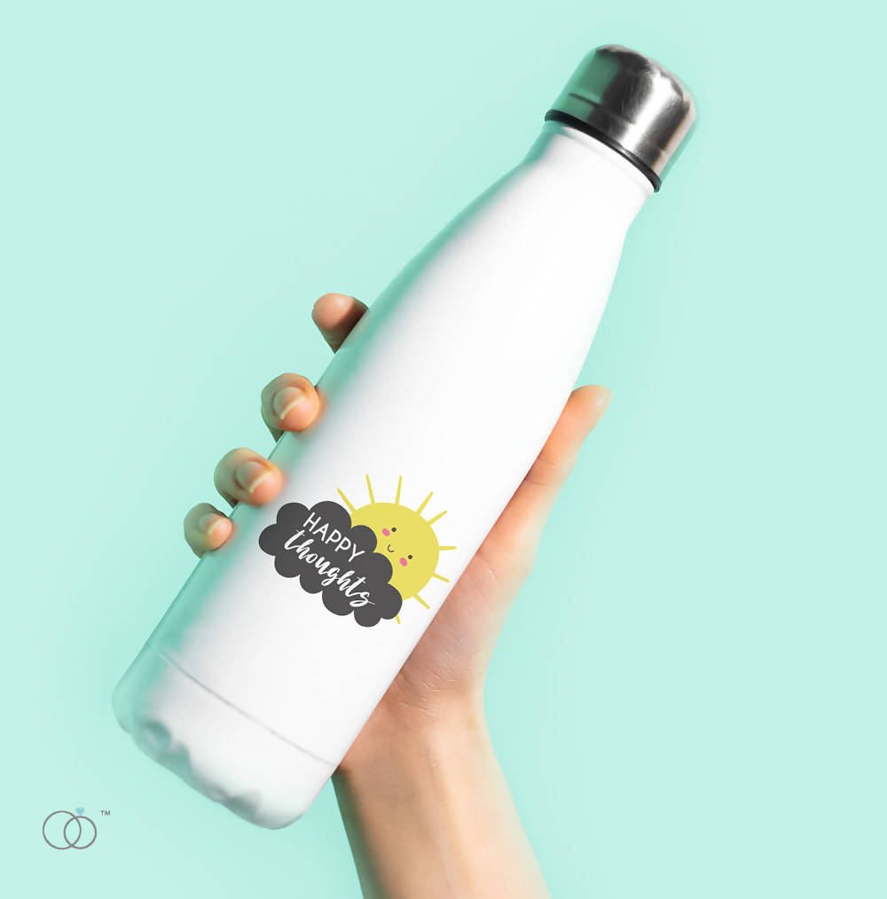 Happy Thoughts 500ml Water Bottle