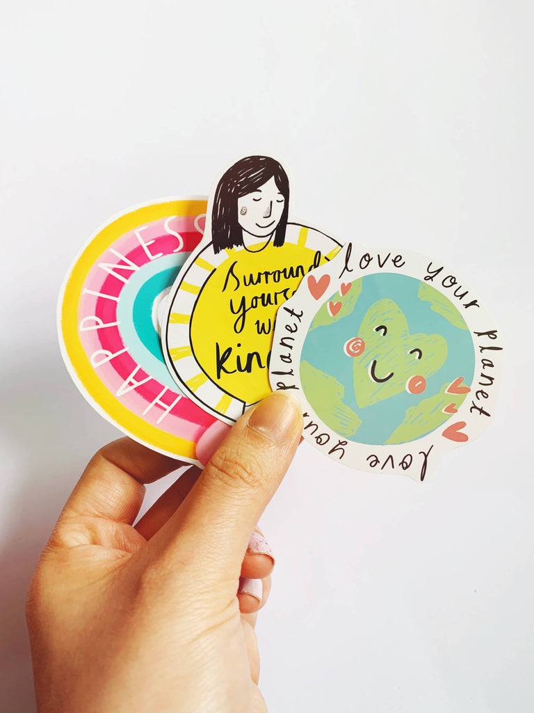 Rainbow of Happiness Vinyl Laptop Sticker