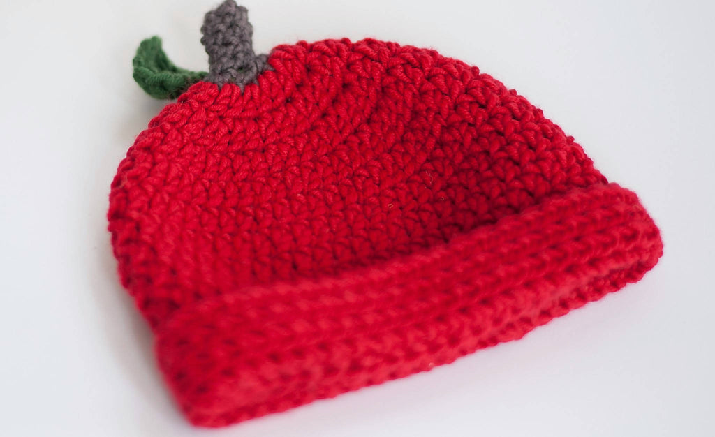 Crochet Apple Hat