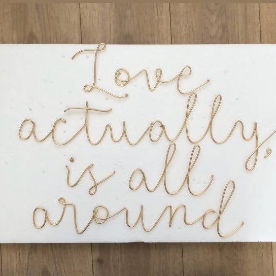 Love actually is, all around Wired Mama Wall Art