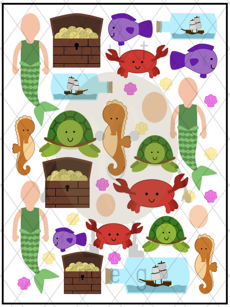 Personalised 'Under the Sea' Sticker Sheet