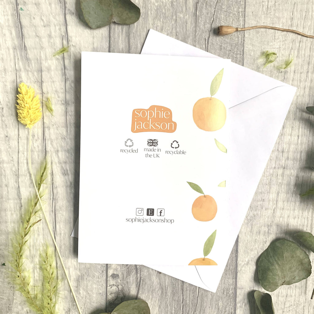 Oranges A6 card | 100% recycled materials