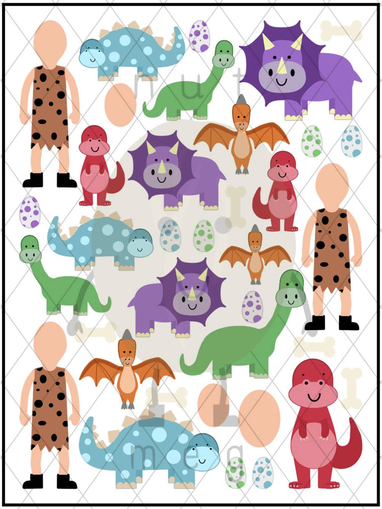 Personalised 'Dinosaur' Sticker Sheet
