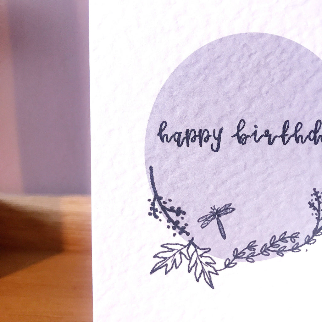 Happy Birthday Illustrated Card