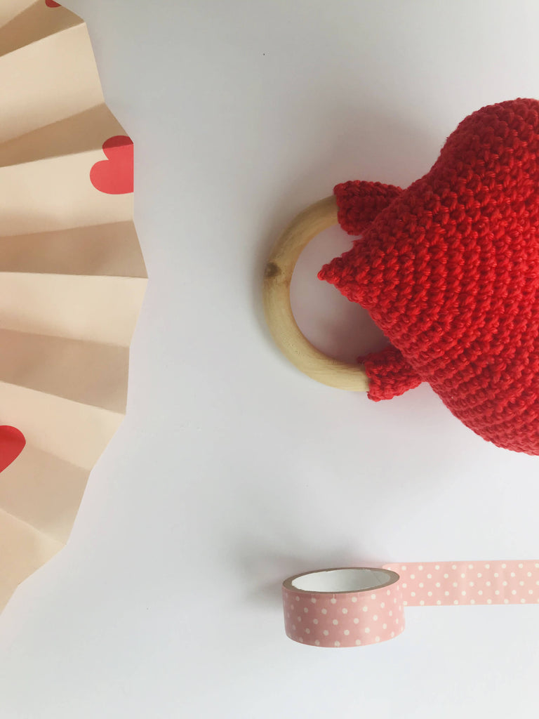 Valentines Teething ring