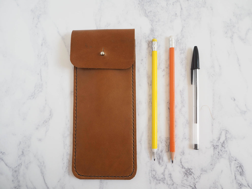 Leather Pencil Sleeve - Gift For Him