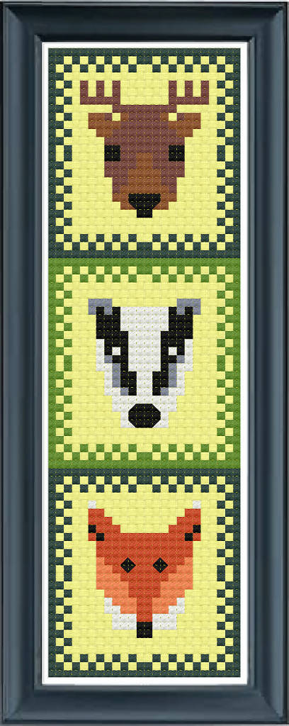 Woodland Bookmark Cross Stitch Pattern Charitable Download PDF