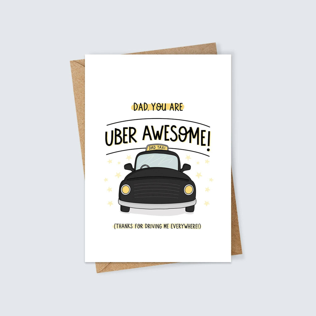 Uber Awesome Dad Taxi Card