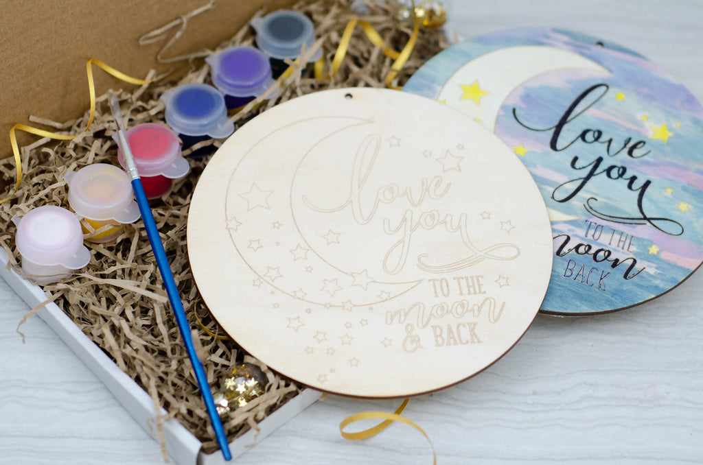 Love you to the moon painting banner kit