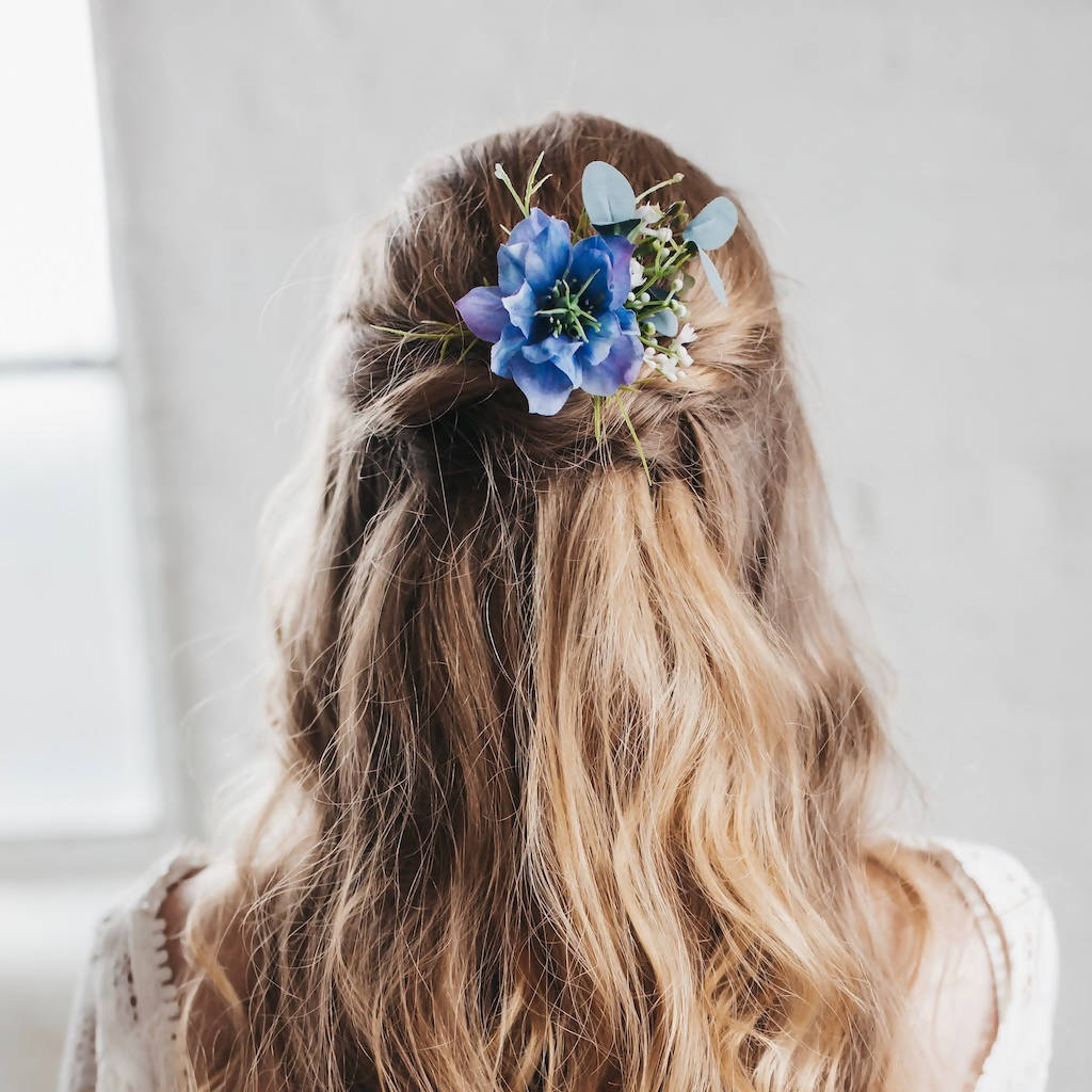 Celeste flower hair pin