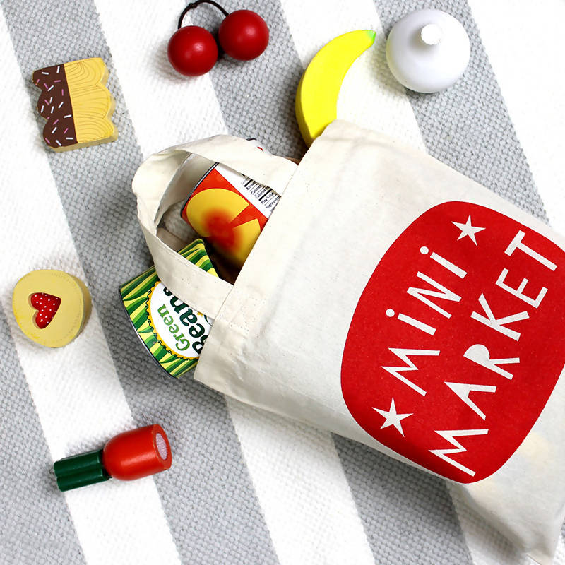 Mini Market Pretend Play Tote Shopping Bag