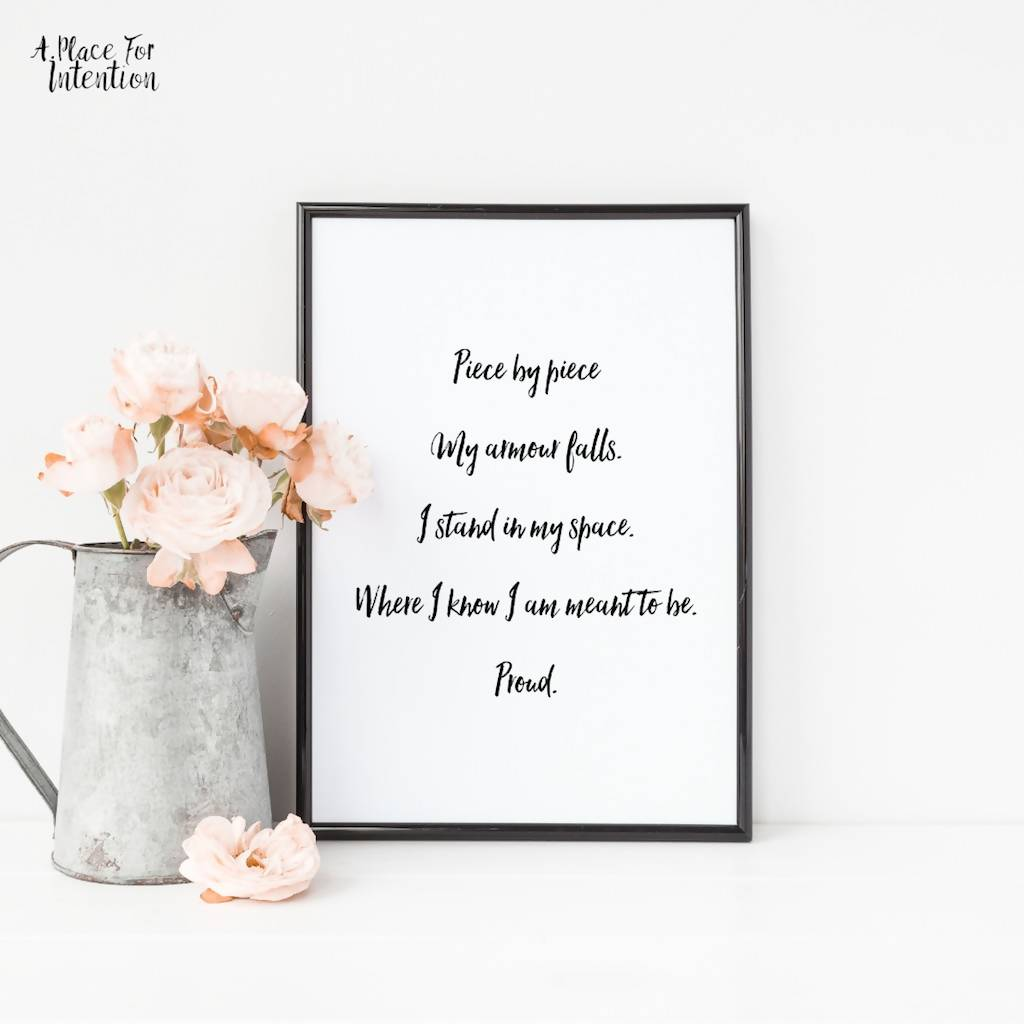 Proud Poem Art Print