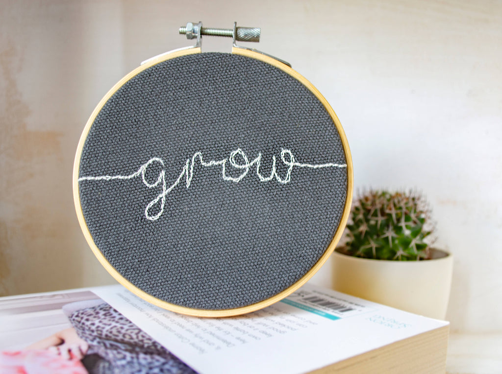 Embroidered Word of the Year 4inch Hoop Wall Art