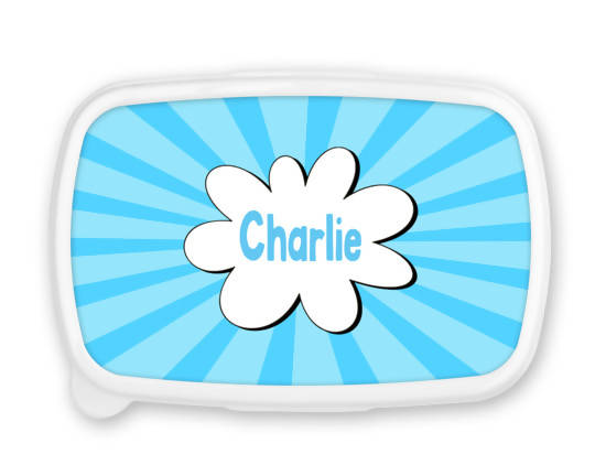 Personalised Blue Snack/Sandwich Box