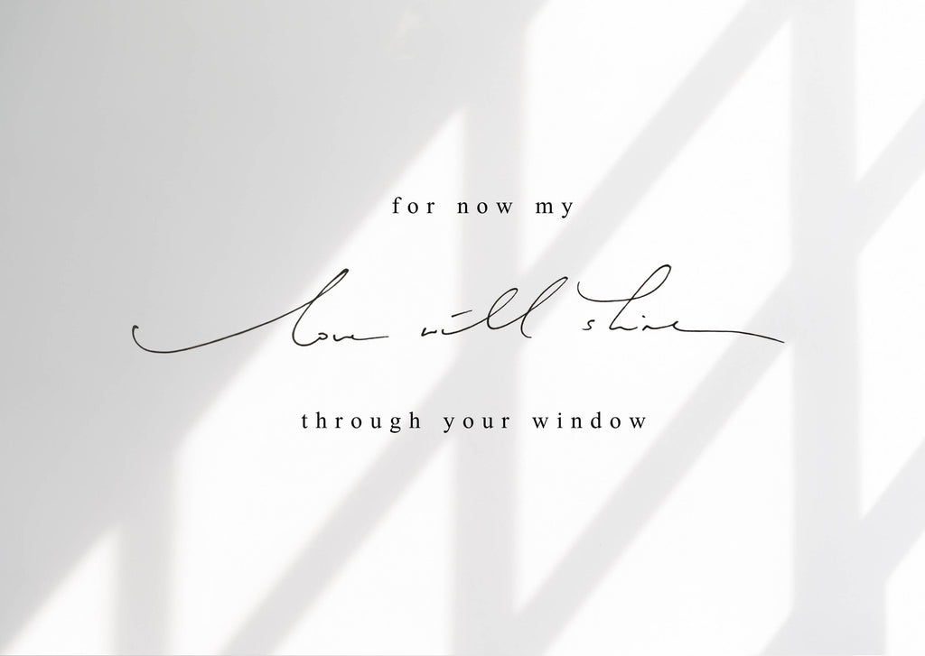 Isolation Postcard - My love will shine through your window