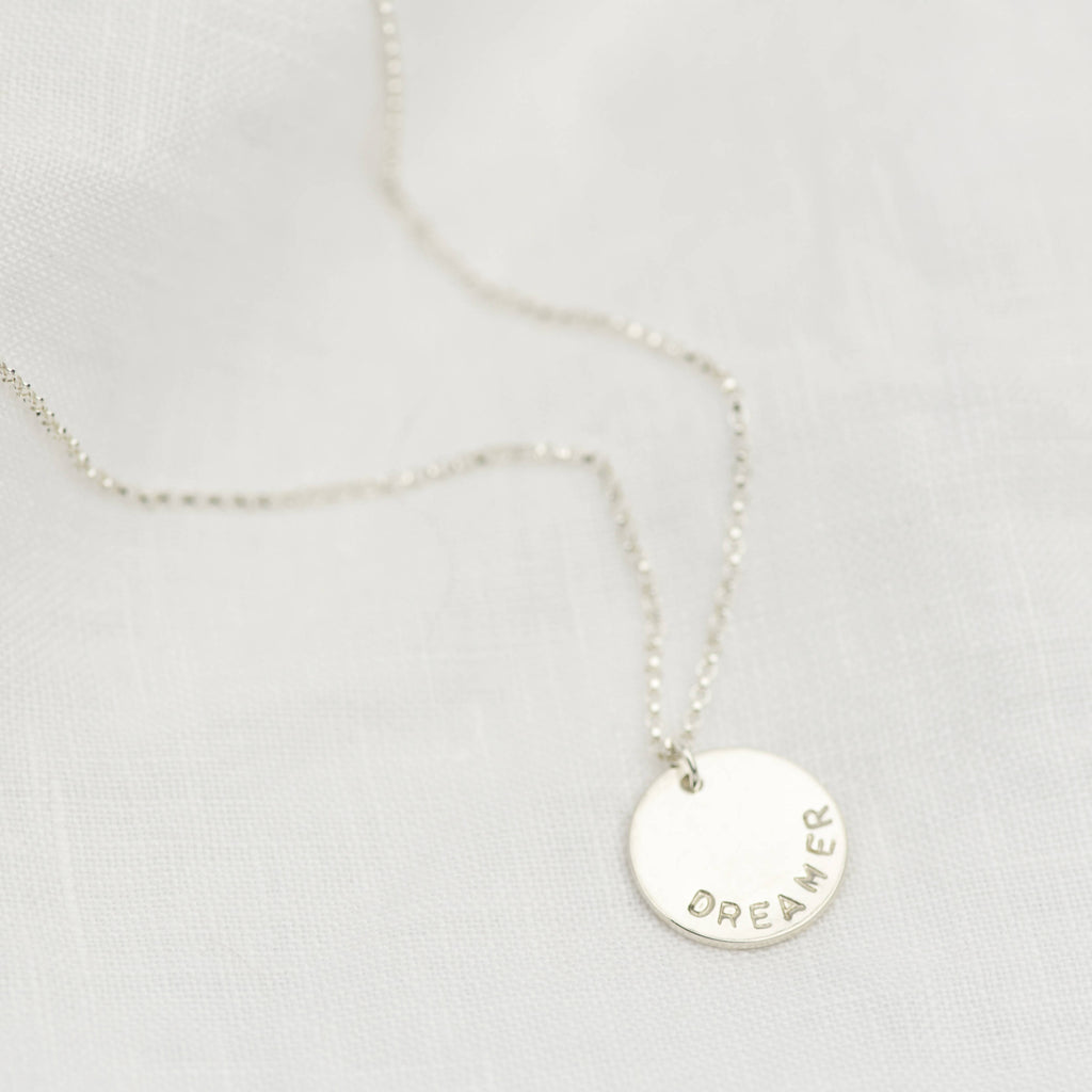 Sterling Silver Personalised Midi Disc Necklace