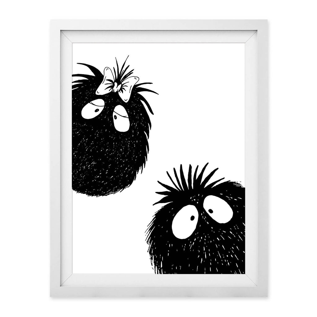 Peekaboo Couple Print (UNFRAMED)