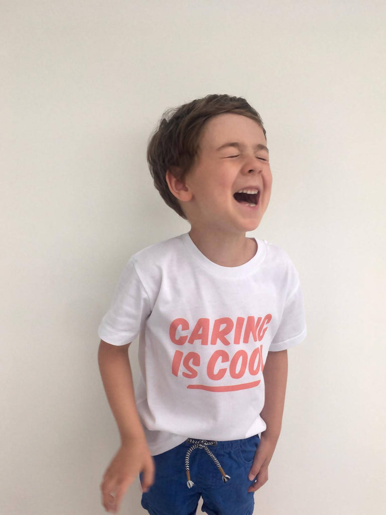 Caring is Cool kids t-shirt