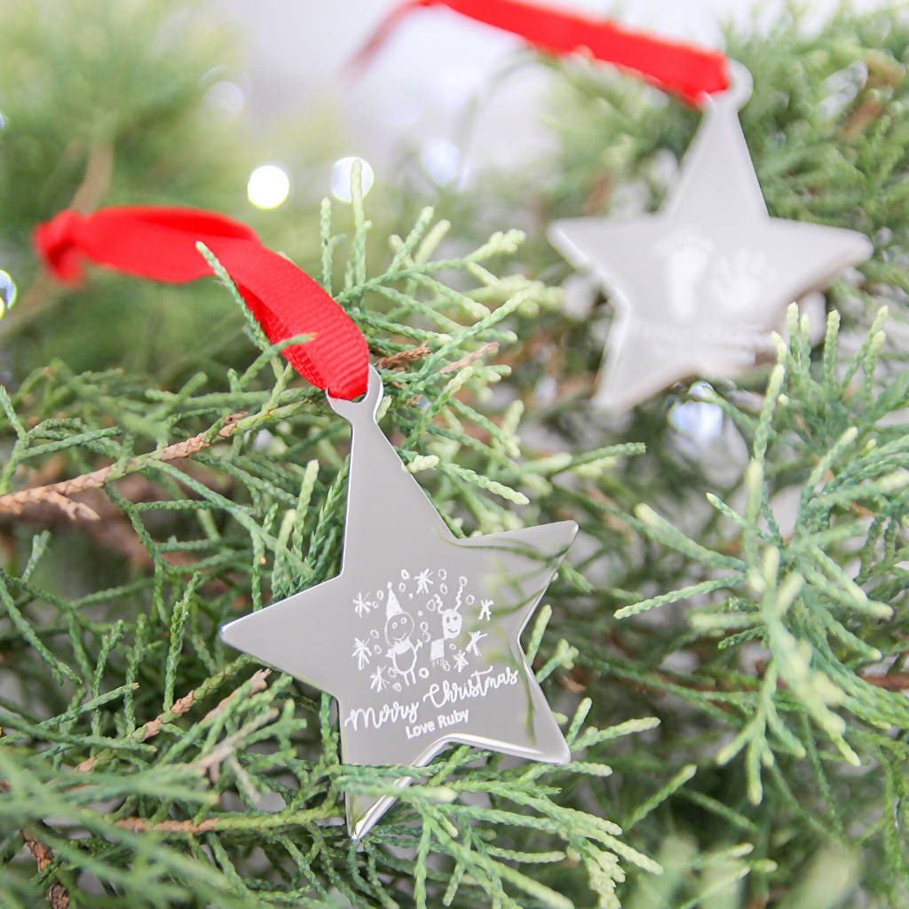 Doodle Christmas Star Decoration